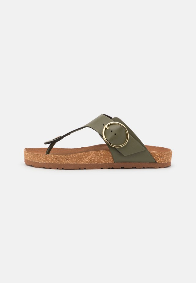 WIDE FIT KRISTEN - T-bar sandals - khaki