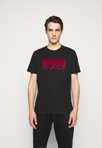 Michael Kors - SPLIT BLOCK TEE - Print T-shirt - black - 0