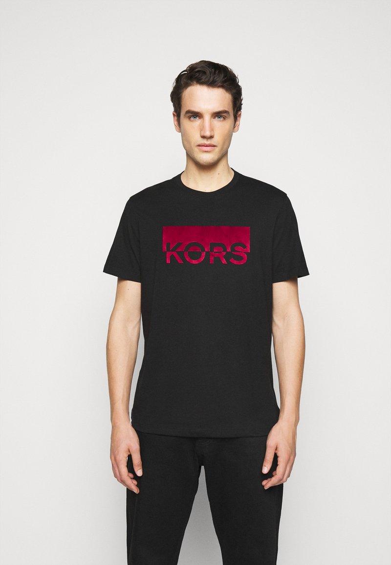 Michael Kors - SPLIT BLOCK TEE - Print T-shirt - black