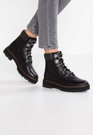 LONDON SQUARE 6IN BOOT - Botki sznurowane - jet black mincio