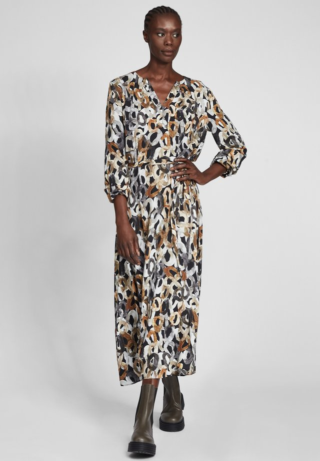 MIT MUSTER - Day dress - schwarz/grau