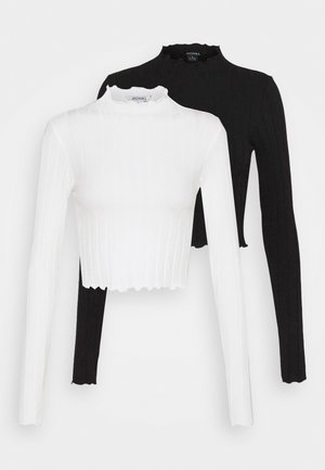 BLAZE 2 PACK - Long sleeved top - black / white