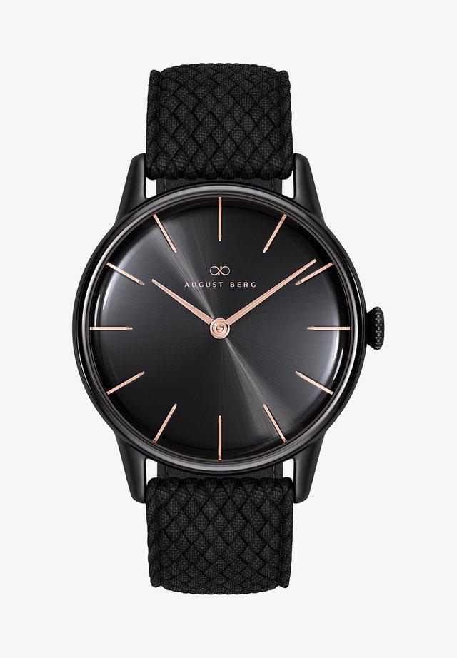 UHR SERENITY NOIR BLACK BLACK PERLON 32MM - Horloge - sunray black