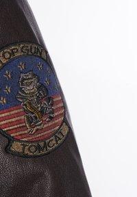 TOP GUN - Leather jacket - braun - 6