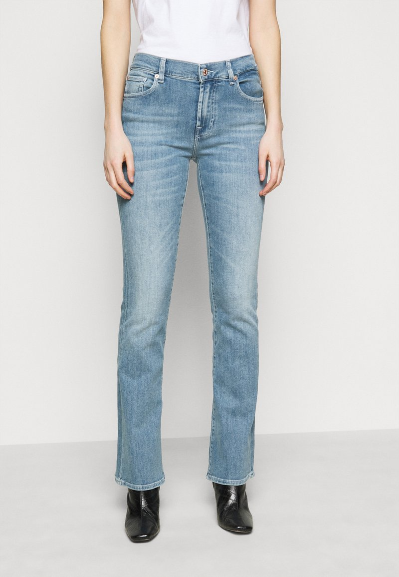 7 for all mankind - SOPHISTICATED - Bootcut jeans - hellblau