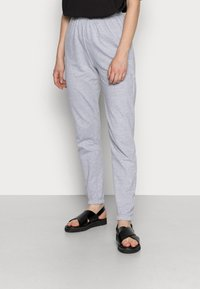 Missguided - BASIC JOGGERS 2 PACK - Tracksuit bottoms - grey/burgundy - 1