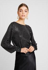 Vero Moda - VMDARLING BODYSTOCKING - T-shirt à manches longues - black/silver - 0