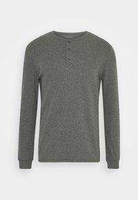 LOUNGE HENLEY TOP - Pyjama top - mottled dark grey