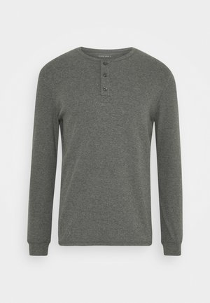 LOUNGE HENLEY TOP - Pyjamasöverdel - mottled dark grey