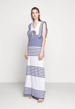 Vestido largo - avorio/cobalto