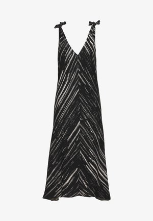 PRINTED SLEEVELESS KNOT SLEEVE DRESS - Korte jurk - black/ecru