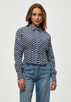 ARONA SHIRT - Button-down blouse - dark denim
