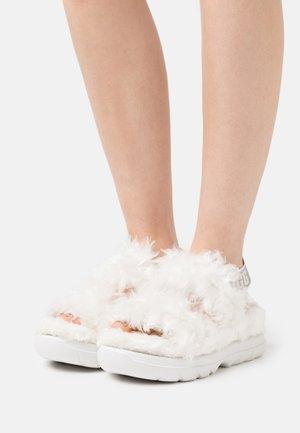 FLUFF SUGAR  - Platform sandals - white