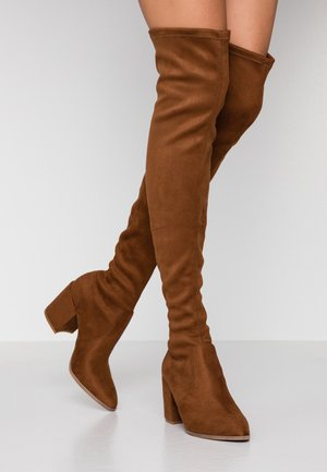 JANEY - Over-the-knee boots - brown