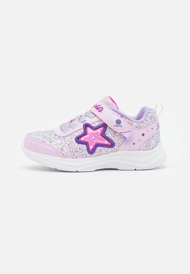 GLIMMER KICKS - Sneakers laag - pink rock glitter/lavender