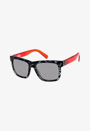 BALKY  - Sunglasses - shiny black tort/flash silver