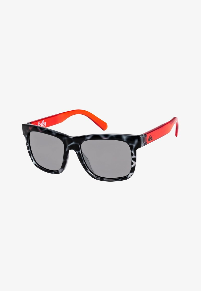 Quiksilver - BALKY  - Sunglasses - shiny black tort/flash silver