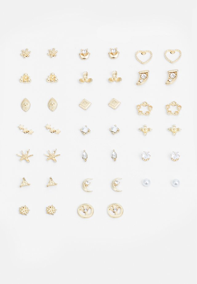 PCALISA EARSTUDS 20 PACK - Boucles d'oreilles - gold-coloured