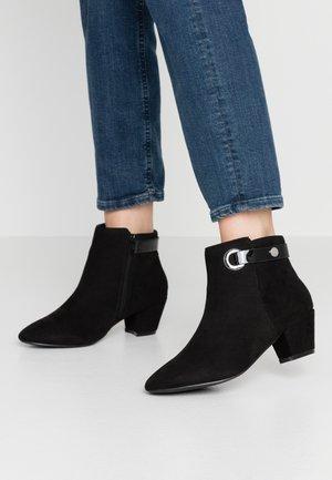 WIDE FIT ARING  RING TRIM  - Kotníková obuv - black