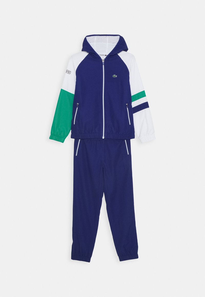 Lacoste Sport - TENNIS TRACKSUIT UNISEX - Survêtement - cosmic/white/greenfinch/black