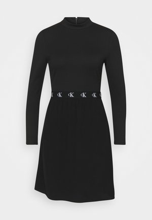 LOGO ELASTIC DRESS - Sukienka z dżerseju - black