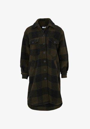 VALLEY - Classic coat - army slash black