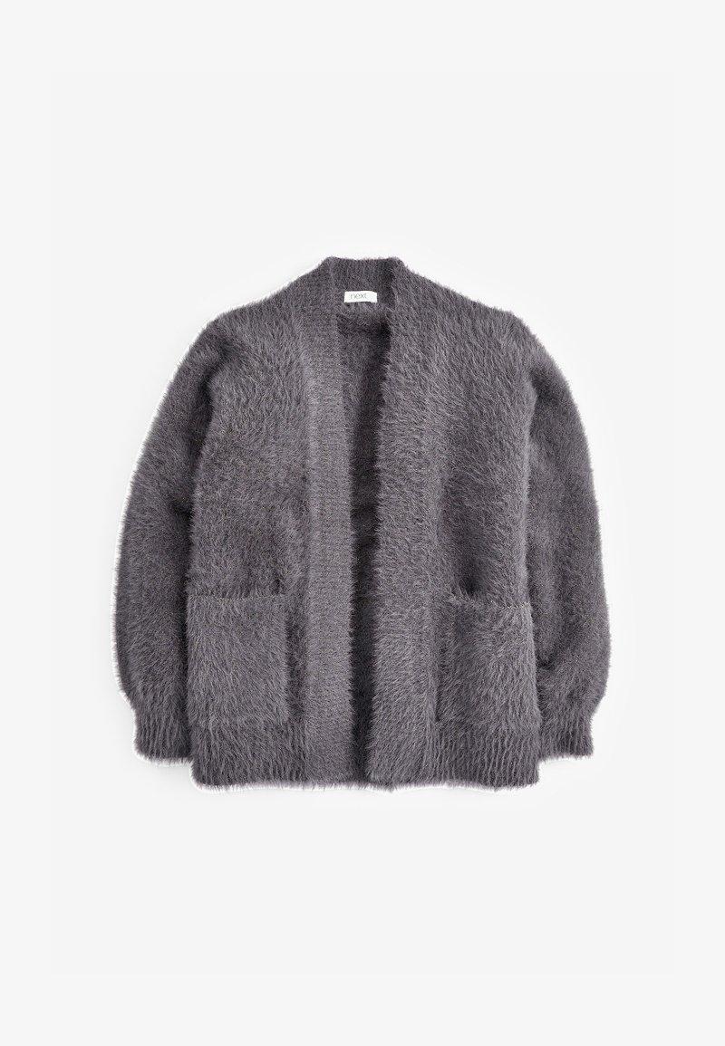 Next - FLUFFY LONG - Cardigan - grey