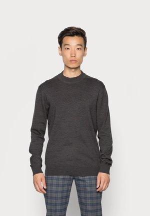 SLHBRADY MOCK NECK - Jersey de punto - dark grey melange