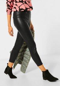 Street One - Leather trousers - schwarz - 0