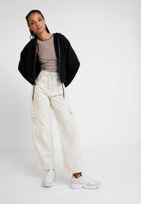 Weekday - MIMI ZIP HODDIE - Zip-up hoodie - black - 1