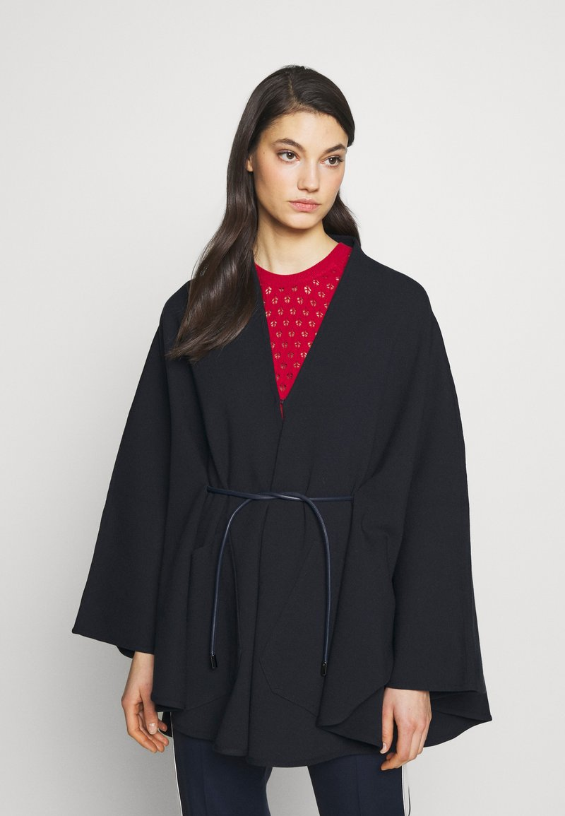 Bally - BELTED CAPE - Poncho - ink