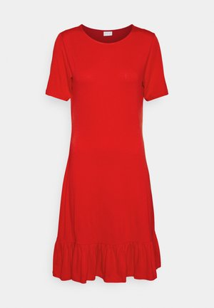VISUS DRESS - Jersey dress - flame scarlet