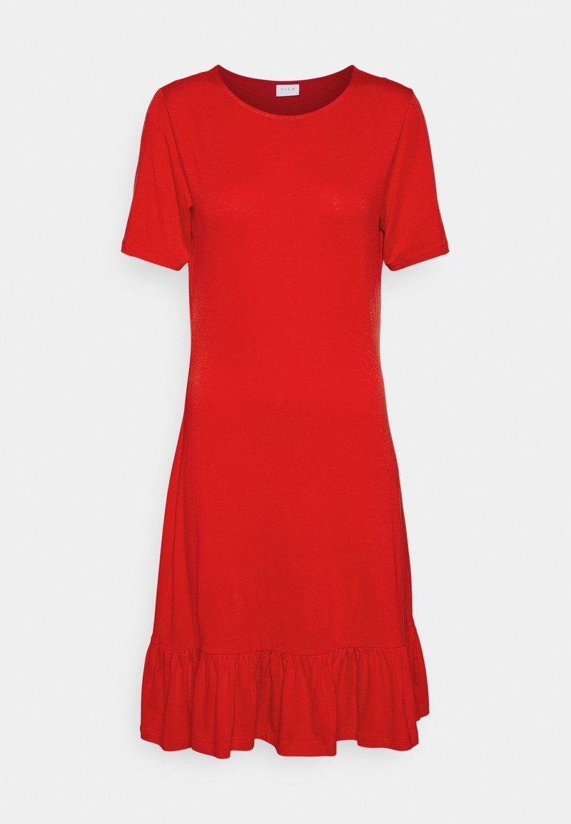 Vila - VISUS DRESS - Trikoomekko - flame scarlet