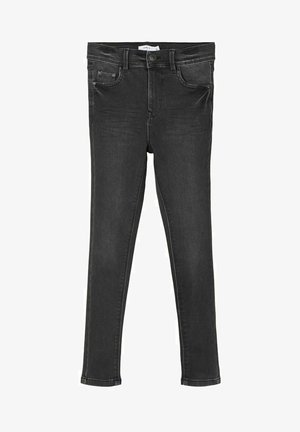 HIGH WAIST SKINNY FIT - Jeans Skinny Fit - black denim