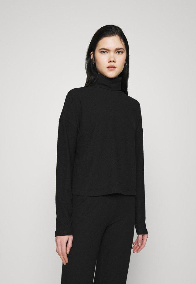 MY COZY SET - Kalhoty - black