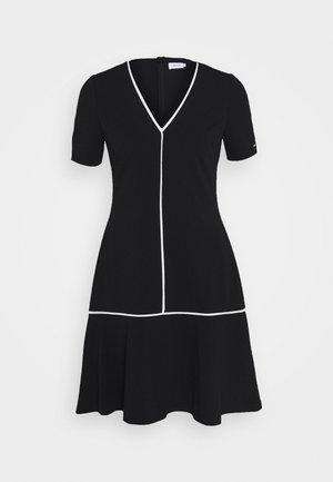 PIPING DETAIL PEPLUM DRESS - Jerseykjoler - black