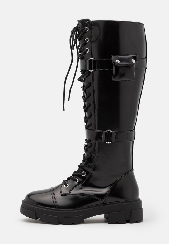 SADIYA - Lace-up boots - black