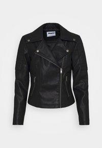Noisy May Petite - NMREBEL - Faux leather jacket - black - 4