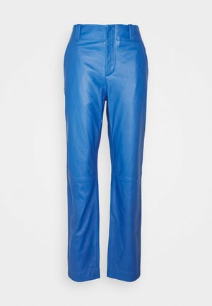 Leather trousers - blue