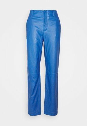 Kožené kalhoty - blue