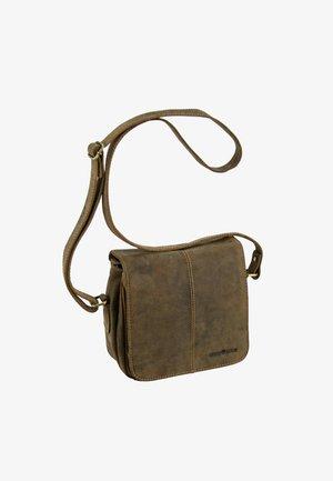 VINTAGE UMHÄNGETASCHE LEDER 20 CM - Across body bag - brown
