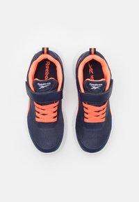 Reebok - RUSH RUNNER 3.0 UNISEX - Neutral running shoes - vector navy/orange/white - 3