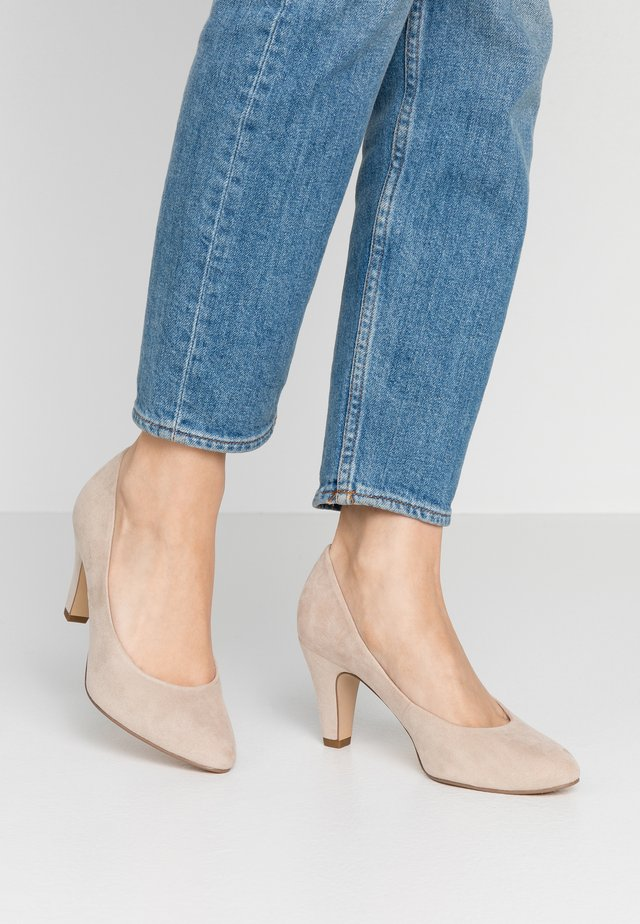 COURT SHOE - Classic heels - dune