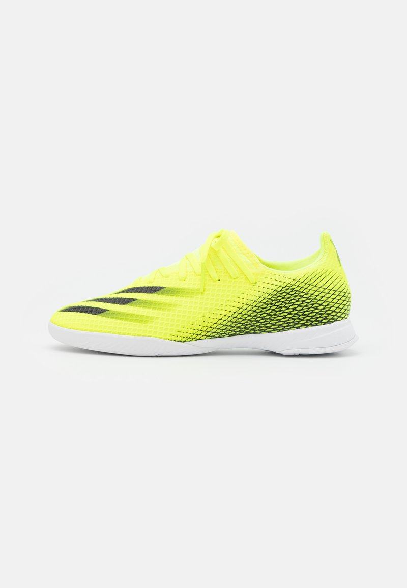 adidas Performance - X GHOSTED.3 IN - Indoor football boots - solar yellow/core black/royal blue