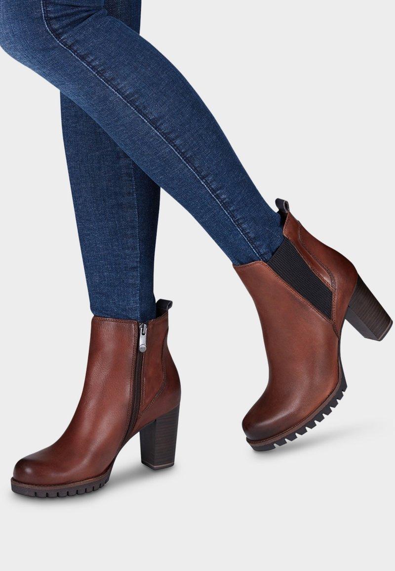 Marco Tozzi - Ankle boots - cognac