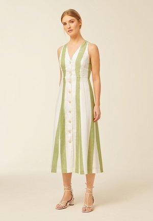 Košilové šaty - moss green