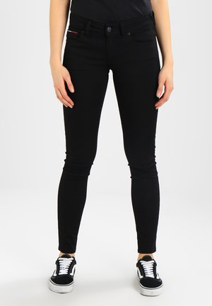 HIGH RISE SKINNY SANTANA - Jeans Skinny Fit - dana black stretch