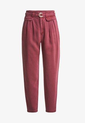 BOYFRIEND LORI CROPPED - Trousers - roze