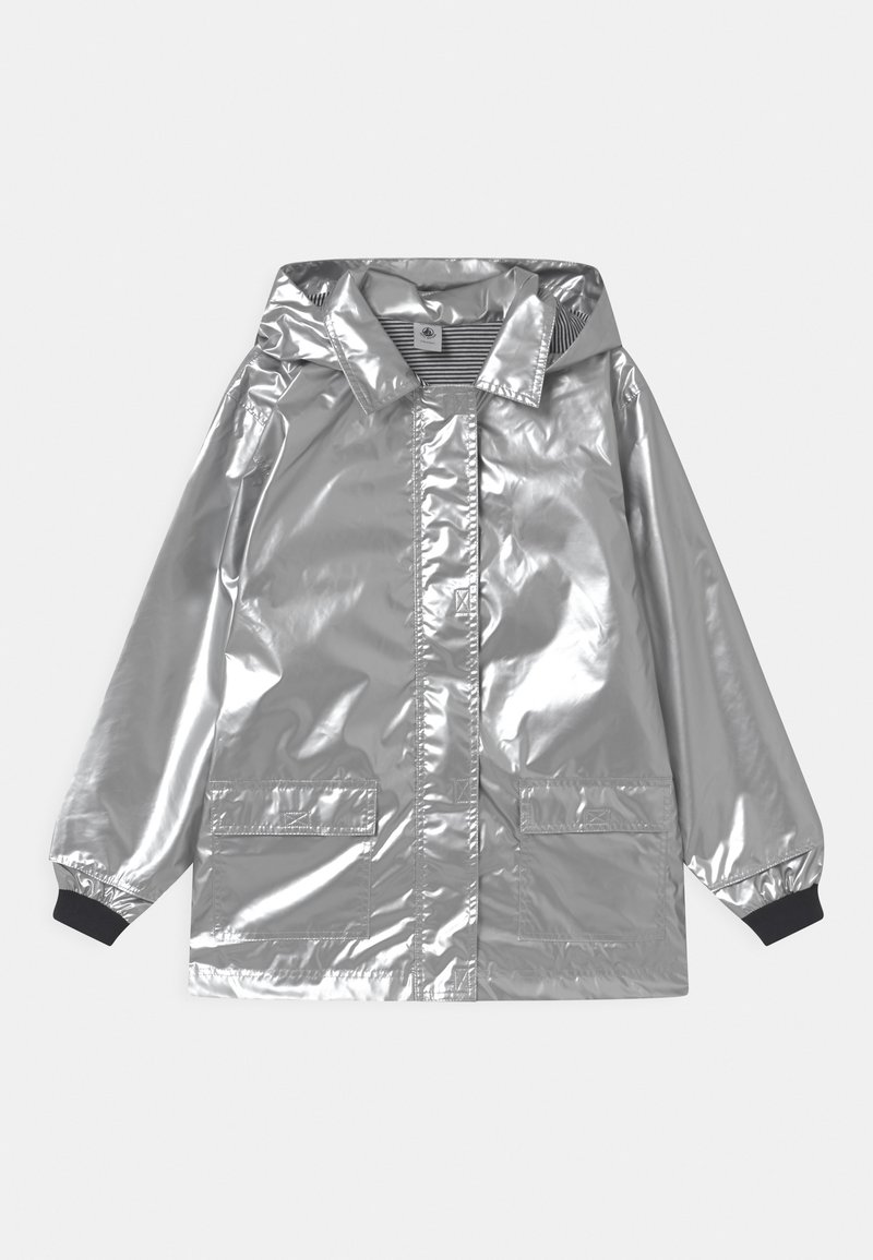 Petit Bateau - RECYCLED LAETICIA CIRE - Waterproof jacket - argent