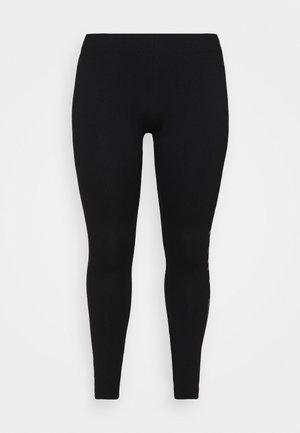 ONPJUTA LIFE  - Leggings - black/deep taupe